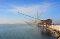 Casoni sottomarina chioggia ancient stilt house of fisher man in Royalty Free Stock Photo