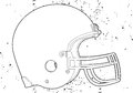 Casque de football Image libre de droits