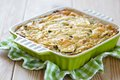 Casserole with cabbage and zucchini in baking dish Royalty Free Stock Images