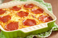 Casserole with pepperoni see my other works in portfolio Royalty Free Stock Photography