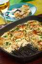 Casserole with potatoes and rice Royalty Free Stock Images