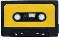 Cassete retro del vintage amarillo Fotos de archivo