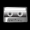 Cassette on black retro music isolated Royalty Free Stock Photography