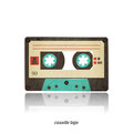 Cassette icon vintage tape on white background Stock Photo