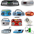 Cassette Player Icons Royalty Free Stock Photography