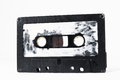 Cassette tape ancient vintage used musicassette over a white background Royalty Free Stock Photos