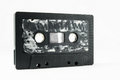 Cassette tape ancient vintage used musicassette over a white background Royalty Free Stock Photo