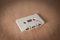 Cassette tapes on brown paper background. Vintage style Royalty Free Stock Photo