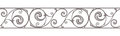 Cast iron border. Vector horizontal seamless background. Royalty Free Stock Photo