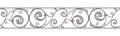 Cast iron border. Vector horizontal seamless background. Royalty Free Stock Photo