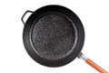 A cast-iron frying pan isolated