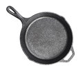 Cast iron frying pans Isolated on white Royalty Free Stock Photo