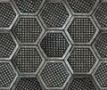Cast iron hexagonal factory floor texture. Royalty Free Stock Photo