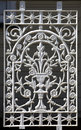 Cast iron lacework panel of victorian era verandah balustrade Stock Images