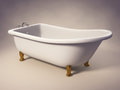 Cast Iron Standing Bathtub Stock Photos