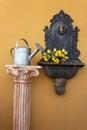 Cast iron wall fountain Royalty Free Stock Photo