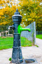 Cast iron water pump Royalty Free Stock Photo