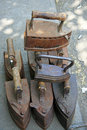 Cast irons old on the market in tbilisi Royalty Free Stock Photos