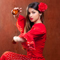 Castanets gipsy flamenco dancer Spain girl Stock Images