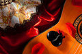 Castanets on Guitar Royalty Free Stock Photo