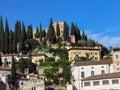 Castel圣彼得罗在 罗纳,意大利 免版税库存照片