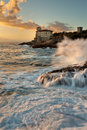 Castel boccale castle on the tuscan coast Stock Photo