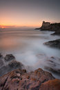 Castel boccale castle on the tuscan coast Stock Photography