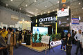 Castel booth th china food drinks fair chengdu march th th Stock Photography