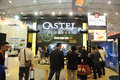 Castel booth th china food drinks fair chengdu march th th Stock Image