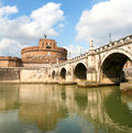 Castel and Bridge Saint Angelo Stock Image