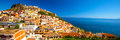 Castel and colorful houses in Castelsardo town, Sardinia, Italy. Royalty Free Stock Photo