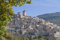 Castel del monte charming mountain village in abruzzo Stock Images