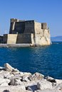 Castel dell ovo in naples beautiful view of famous fort italy Royalty Free Stock Image