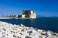 Castel dell ovo in naples beautiful view of famous fort italy Royalty Free Stock Photos