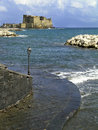 Castel dell ovo in naples italy the famous castle seen and photographed from a beautiful point via caracciolo the city Royalty Free Stock Photography