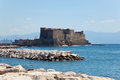 Castel dell ovo naples italy fortress in the bay of Royalty Free Stock Image