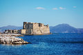 Castel dell ovo naples landscape with the Royalty Free Stock Photo