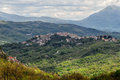 Castel san Vincenzo valley spring landscape Royalty Free Stock Photo