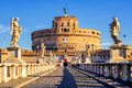 Castel Sant`Angelo, Mausoleum of Hadrian, Rome, Italy Royalty Free Stock Photo