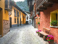 Casteldelfino cuneo val varaita piedmont italy typical mountain village at summer Royalty Free Stock Image