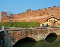 Castelfranco Veneto and medieval fortification gate Royalty Free Stock Photo