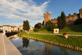 Castelfranco veneto treviso italy ancient walls of north side xii xiii century in the province of north Royalty Free Stock Image