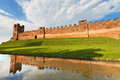 Castelfranco veneto treviso italy ancient walls of west side xii xiii century in the province of north Stock Images