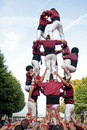 Castellers in Barcelona, Spain Royalty Free Stock Photography