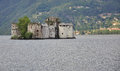 Castelli di Cannero. Island castle in Lake Maggiore Royalty Free Stock Photo