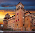 Castello Estense in Ferrara Royalty Free Stock Photo