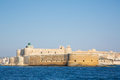 Castello Maniace at Siracuse in Sicilia: Ancient town Ortygia. Royalty Free Stock Photo