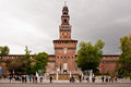 Castello Sforzesco, famous landmark in Milan Stock Images