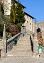 Castelmonte sanctuary staircase Stock Images