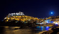 Castelsardo by the moonlight Royalty Free Stock Images